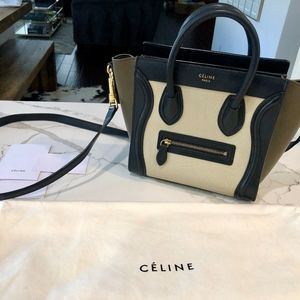 Celine Nano Luggage Tricolor Crossbody